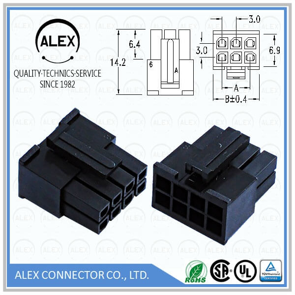 "Receptacle Housing / .118""(3.00mm) Dual Row Wire-to-Board Connectos"